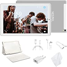 Tablet 10 Pulgadas 4G LTE Tabletas con 3GB RAM & 32GB ROM y YESTEL Android 8.0 Dual SIM Call, 5.0 MP + 8.0 MP HD la Cámara y 8000mAH (WI-FI ,GPS, Bluetooth ,FM Radio) Blanco/Plata