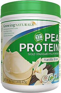 Growing Naturals | Plant Based Protein, Gold Standard Raw Pea Protein Powder | Vanilla Blast | Non-GMO, Vegan, Gluten-Free...