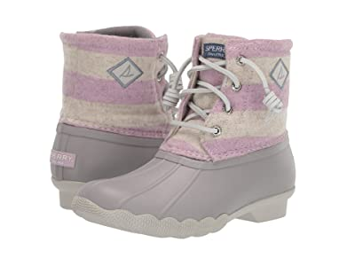 Sperry Kids Saltwater Boot (Little Kid/Big Kid) (Oatmeal/Lilac) Girls Shoes