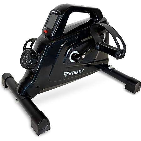 STEADY 最新UXモデル ミニフィットネスバイク 電源不要 負荷16段階 [1年保証] ステディ ST121 フィットネスバイクミニ 静音 小型 フィットネスマシン