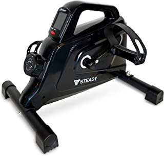 STEADY 最新UXモデル ミニフィットネスバイク 電源不要 負荷16段階 [1年保証] ステディ ST121 エアロバイクミニ 静音 小型 フィットネスマシン