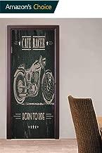 Vivid Door Stickers, Born to Die Quote Door Stickers Waterproof Removable Door Decal for Office Apartment Decoration, 30.3W x 78.7H Inches