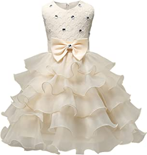 Girl Dress Kids Ruffles Lace Party Wedding Dresses