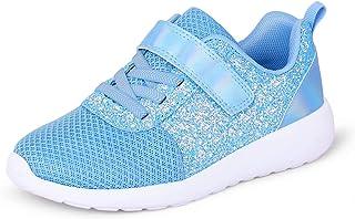 Baskets pour filles - Chaussures de sport - À paillettes - Décontractées - Légères - Respirantes - Pour le tennis, la rout...