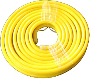 Vasten 30 ft LED Neon Rope Light 12V Flex LED Neon Tube Light Waterproof Resistant, Accessories Included - [Ideal for Christmas Lighting, Indoor/Outdoor Rope Lighting] [Ready to use] (Yellow)