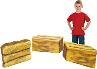 Fun Express - Hay Bale Standup (3pc) - Party Decor - Large Decor - Floor Stand Ups - 3 Pieces