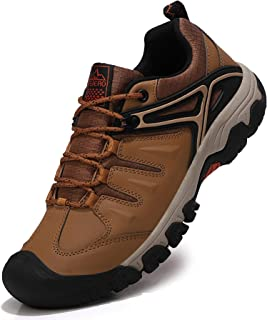 ASTERO Hiking Boots Mens Walking Shoes Lightweight Trekking Outdoor Mountain Low Casual Trainers Lacce-up Sneakers for All...