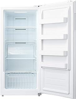 SMETA 13.8 cu ft Upright Freezer/Refrigerator Energy Star Freestanding Single Door Freezer/Fridge in One, White