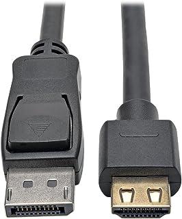 كبل محول ديسبلاي بورت 1.2 أ إلى HDMI من تريب لايت، اكتيف مع خاصية عرض HDMI 10 ft. P582-010-HD-V2A