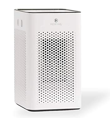 Medify MA-25 Air Purifier with H13 HEPA filter - a higher grade of HEPA for 500 Sq. Ft. Air Purifier | Dual Air Intake | Two '3-in-1' Filters | 99.9% removal in a Modern Design - White