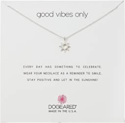 Good Vibes Only, Radient Sun Pendent Necklace