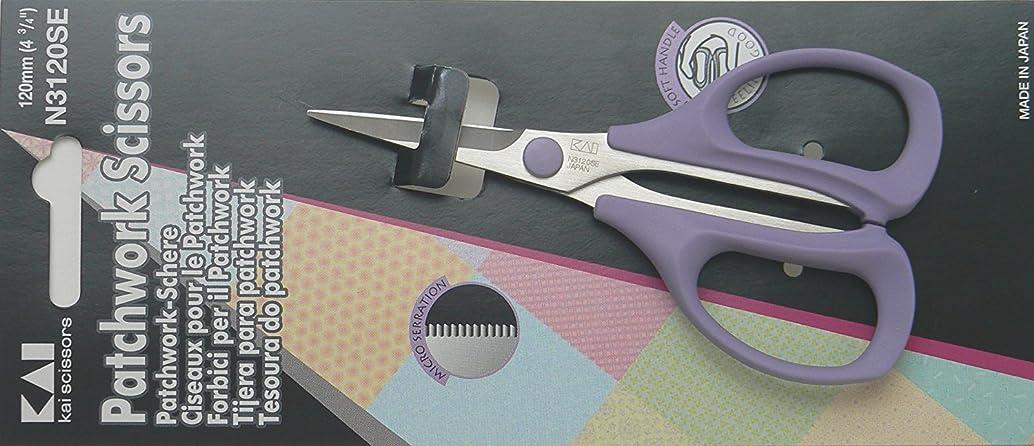 Kai 3120 4 3/4 Inch Serrated Blade Patchwork Scissor