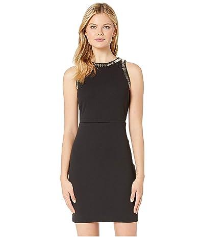 MICHAEL Michael Kors Heat Stud Rectangular Apron Dress (Black) Women