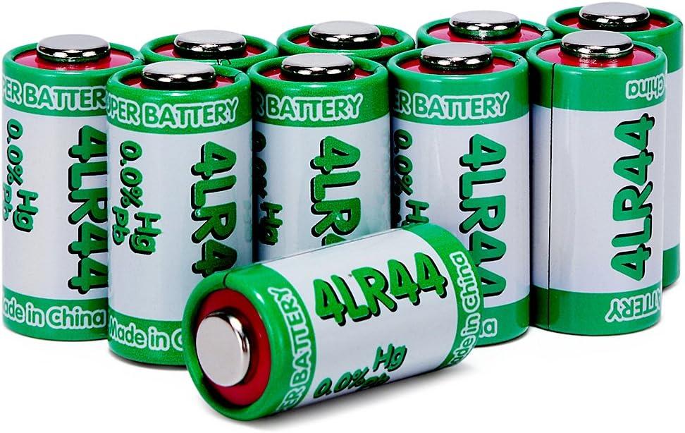 LiCB 10 Pack 4LR44 6V Battery PX28A 476A A544 K28A L1325 Battery 6V Alkaline Batteries for Dog Collars : Health & Household