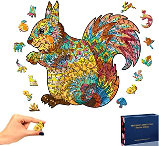 Puzzles en Bois pour Adultes et Enfants, Puzzles en Bois Forme Animale Bricolage Puzzle pièce Famille Jeu Jouer Collection...