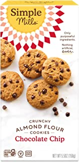 Simple Mills Almond Flour Chocolate Chip Cookies, Gluten Free and Delicious Crunchy Cookies, Organic Coconut Oil, Good for...