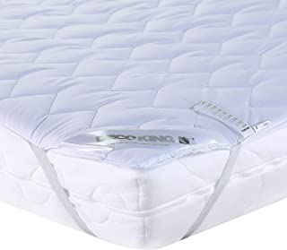 DecoKing Protector de Colchón 200x200 cm 100% Microfibra Funda de Colchón Resistente Blanco Light Cover