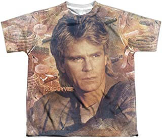 Macgyver TV Show Tools of The Trade Face Big Boys Youth Front Print T-Shirt Tee