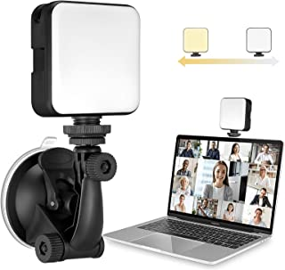 MUIFA Video Conference Lighting Kit 3200k-6500K Dimmable LED Ring Light Clip for Computers Monitors and Laptops, Remote Wo...