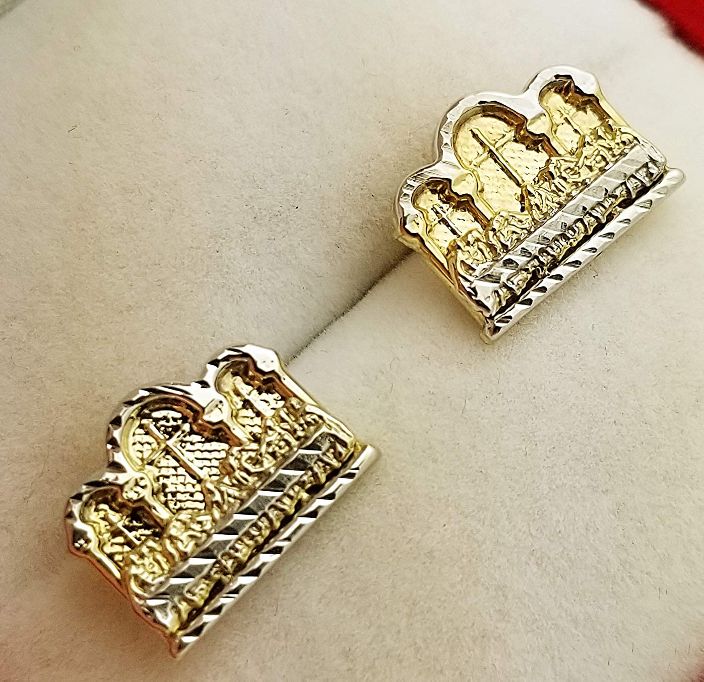 Gold Last Supper Earrings 10K Yellow Gold Earrings