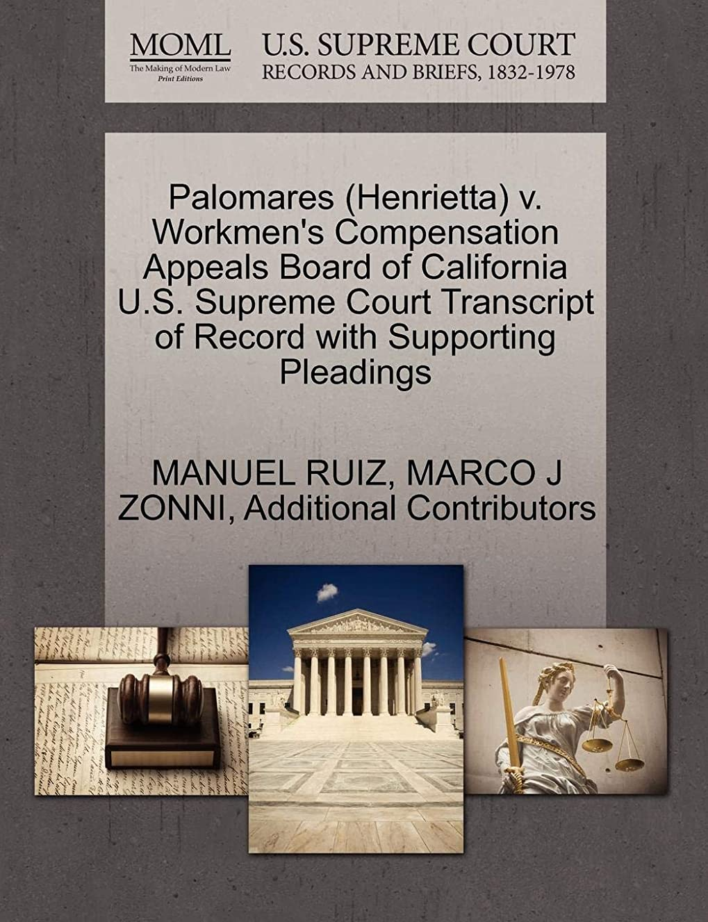 Palomares (Henrietta) v. Workmen's Compensation Appeals Board of California U.S. Supreme Court Transcript of Record with Supporting Pleadings