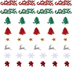 KESYOO 2 Packages Merry Christmas Confetti Xmas Element Cutout Confetti Holiday Table Seasonal Glitter Confetti Sprinkle f...