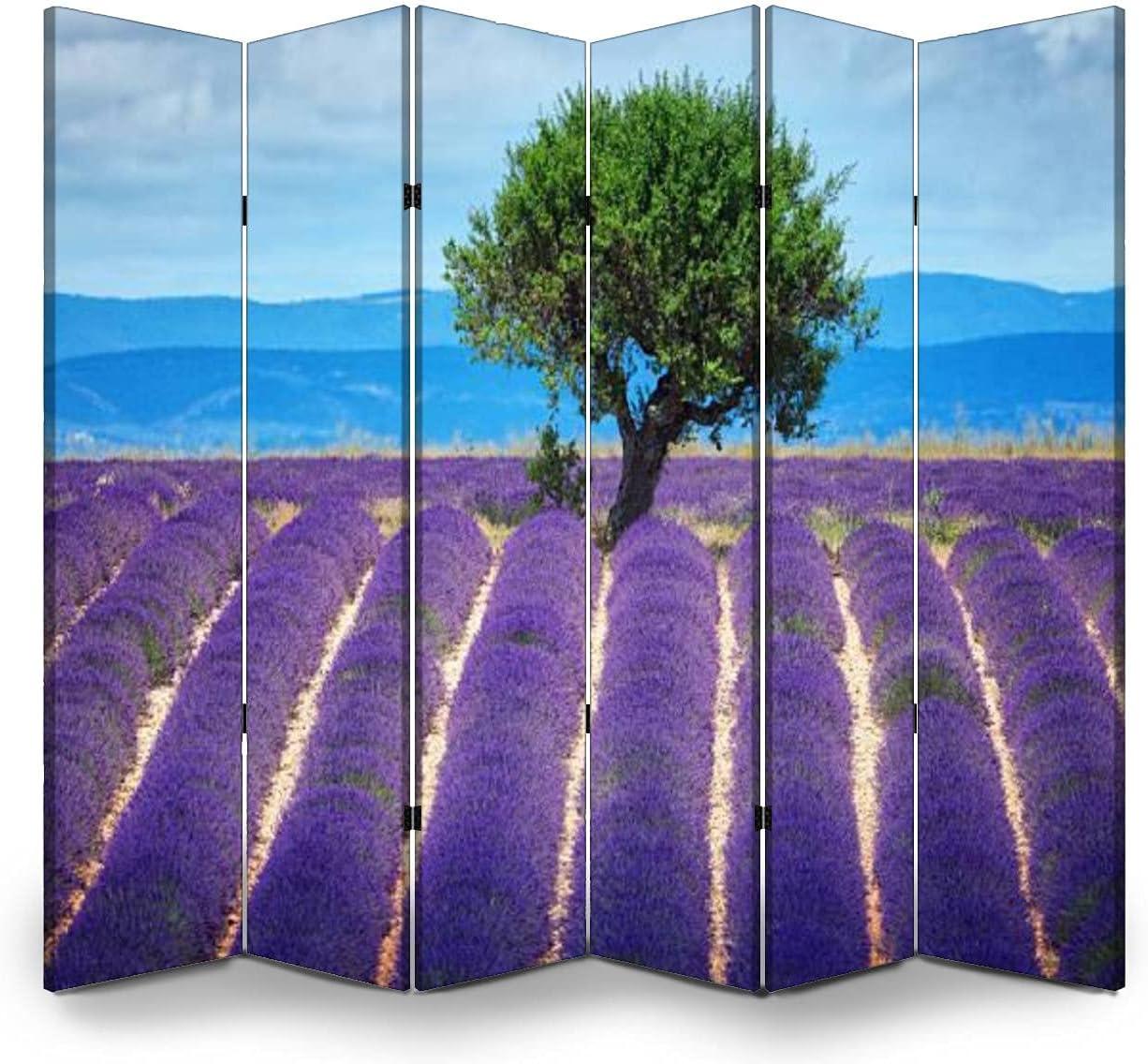 Max 62% OFF Dola-Dola 6 Panel Screen Room in Fields Award Divider Provenc Lavender