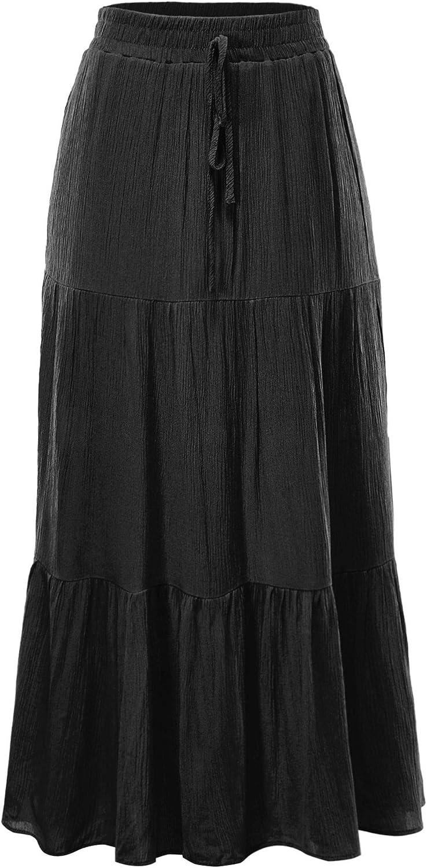 FashionMille Women Popular Flowing Bohemian Flare A-line Skirt
