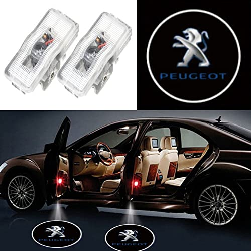 Auto Sport Car Door Logo Shadow Projector LED welcome Light (peugeot)