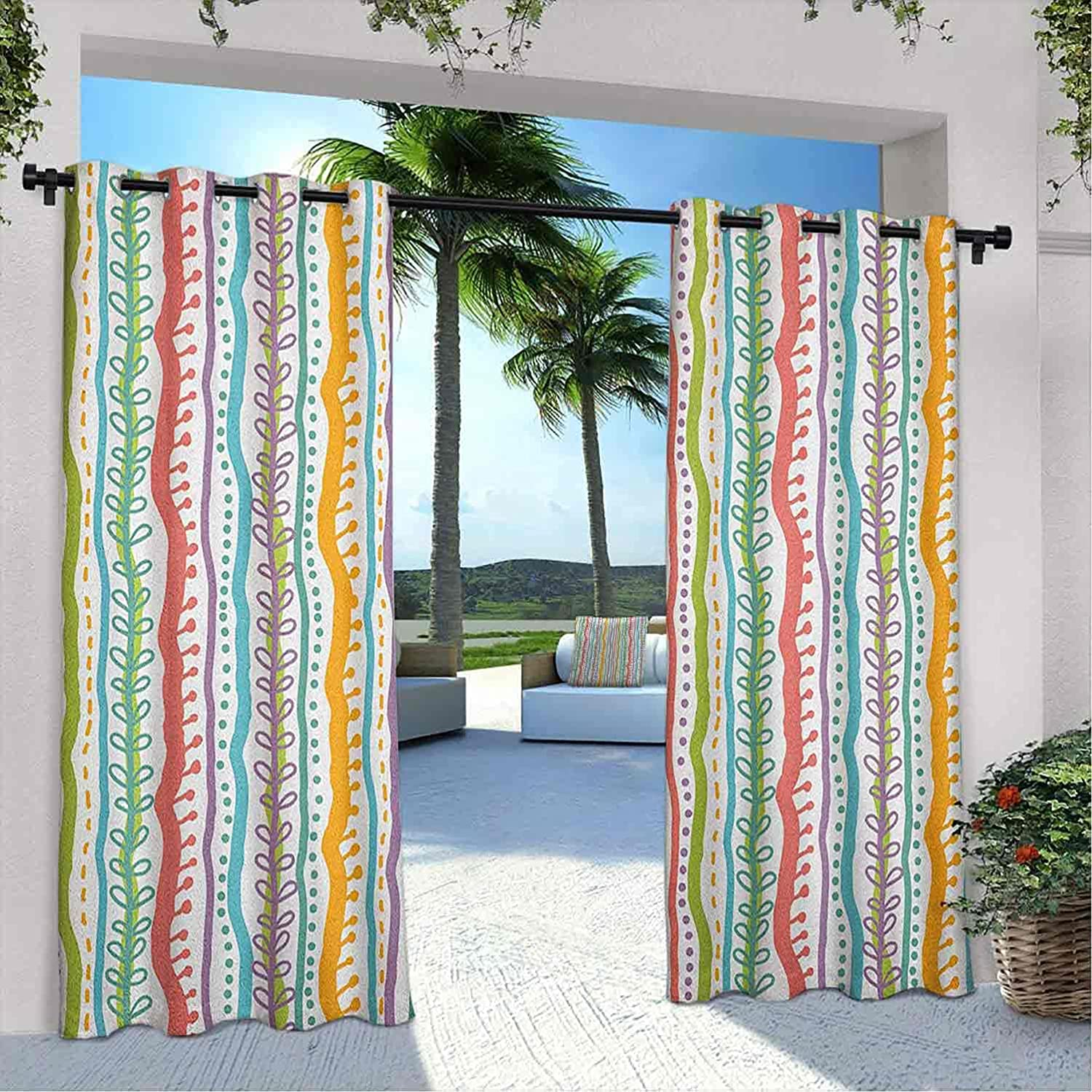 depot Courtyard Outdoor Striped Curtain Vertical Featured Abstract Sw Cheap mail order shopping