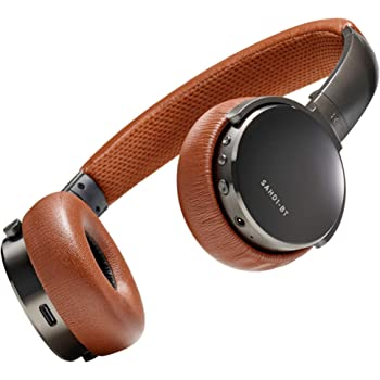 Status Audio BT One Wireless On-Ear Headphones - Bluetooth 5.0. + aptX, 30 Hours of Battery, USB-C + Quick Charge, Award Winning Sound + Minimalist Metal Design, Gunmetal Grey + Brown (Umber)