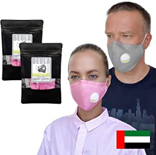 Washable Face Mask Non Medical Reusable Cotton With Valve Filter Reusable (2pcs Pink)