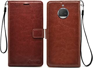 Bracevor Flip Cover Moto G5S Plus Leather Case with Inner TPU and Wallet Stand - Executive Brown