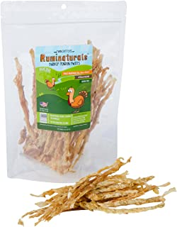 Turkey Tendon Twists Value Pack - 8 oz (1/2 Pound) - Natural Hypoallergenic Dog Chew Treat - Ruminaturals by TwinCritters