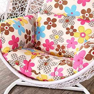 KKLTWU Hanging Chair Cushion Chair Pads, Large Seat Cushioning Swing Chair Pad Cradle Polyester Removable Wash Pp Cotton-e