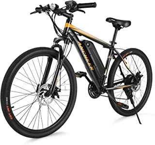 ANCHEER Electric Bike Electric Mountain Bike 350W Ebike 26'' Electric Bicycle, 20MPH Adults Ebike with Removable 7.8/10.4A...