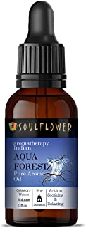 Soulflower Aroma Diffuser Oil for Home - Aqua Forest - 100% Pure, Organic, Natural, Alcohol-Free, Chemicals Free, No Synth...