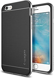 Spigen Neo Hybrid iPhone 6s Case with Flexible Inner Protection and Reinforced Hard Bumper Frame for Apple iPhone 6s (2016) / iPhone 6 (2015) - Satin Silver