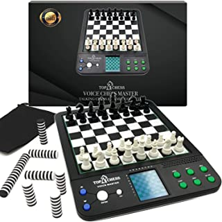 Top 1 Chess Set Board Game, Electronic Voice Chess Academy Classical 8 in 1 Computer Voice Teaching System, Teach Chess St...