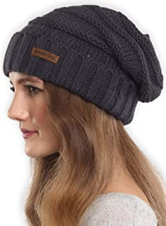 Slouchy Beanie Winter Hat for Women - Slouch Oversized Cable Knit Hats - Warm Chunky Knitted Cap...