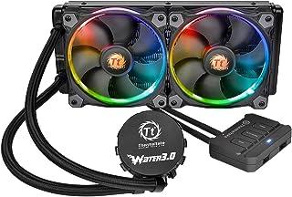 Thermaltake Water 3.0 Riing RGB 240 - Sistema de refrigeración líquida, Color Negro