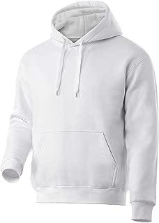 Rich Cotton Men Hoodie Fleece Sweatshirt Pullover Long Sleeve Heavyweight Performance Slim Fit Small Big Tall Winter Fall