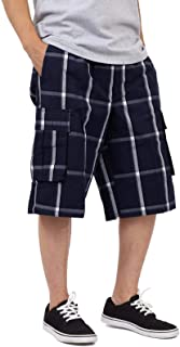 Men's Men's Cargo Shorts – Casual Plaid Loose Relaxed Loose Fit Elastic Waist Multi Pocket Pants Regular Big S~5XL