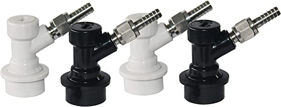 Ball Lock MFL Keg Disconnect Set with Swivel Nuts (2 Pair) 5/16 Gas, 1/4 Liquid Barbed for Home Brew Keg Tap by the Yocen …