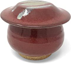 product image for Dock 6 Pottery French Butter Dish, Red with Accents