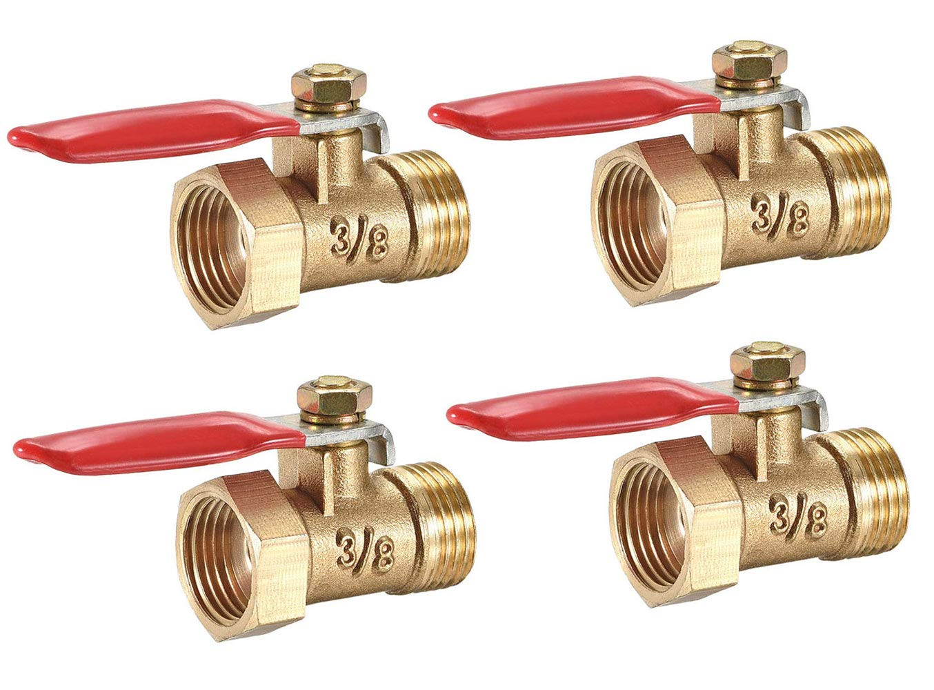 Lheng 3 Max 44% OFF 8 Inch Brass Large special price !! Ball Valve Shut NPT Switch Off Male 4