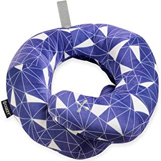 BCOZZY Chin Supporting Patented Travel Pillow - Prevents The Head from Falling Forward in Any Sitting Position, Providing Comfort and Support for The Neck and Head. Adult Size (Galactic)