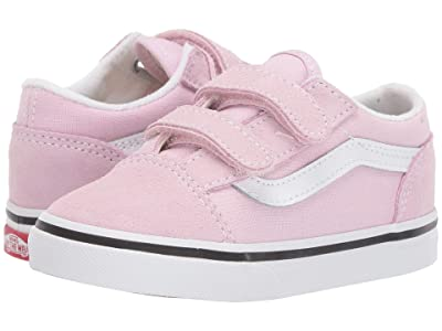 Vans Kids Old Skool V (Infant/Toddler) (Lilac Snow/True White) Girls Shoes