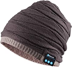 Bluetooth Headphones Hat Slouchy Beanie Music Earbuds with Microphone Speaker Hands Free Headset