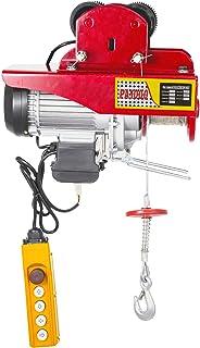 Bisujerro Polipasto Eléctrico 1000kg / 1000 lbs Montacargas Eléctrico con Carretilla Eléctrica Polipasto Eléctrico de Acero Cabrestante Electrico Cable Eléctrico con Mando a Distancia